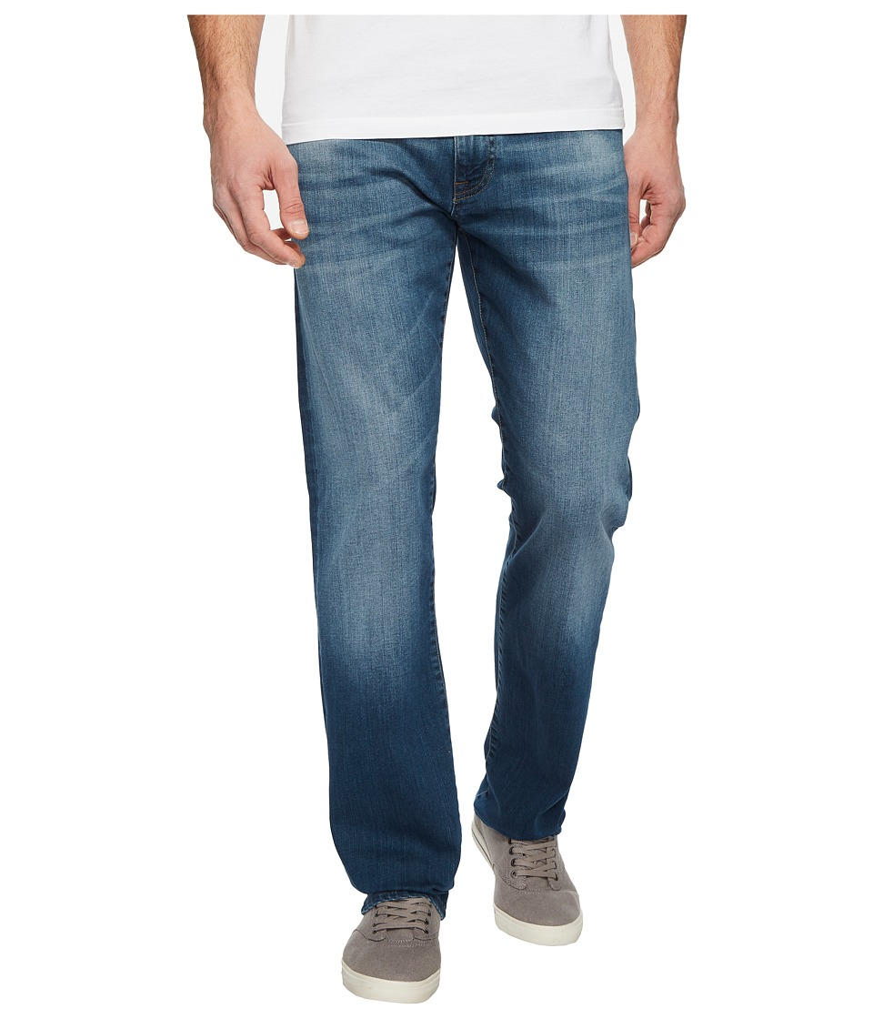 Mavi Jeans Zach Regular Rise Straight Leg in Mid Shaded Williamsburg (Mid Shaded Williamsburg) Men