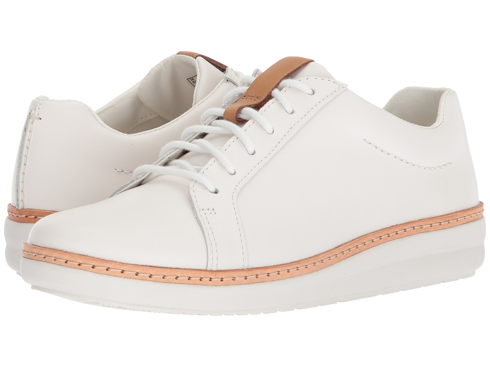 Clarks - Amberlee Rosa (White Leather) Womens Shoes
