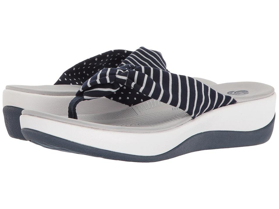 Clarks - Arla Glison (Navy Printed Fabric) Women's Sandals