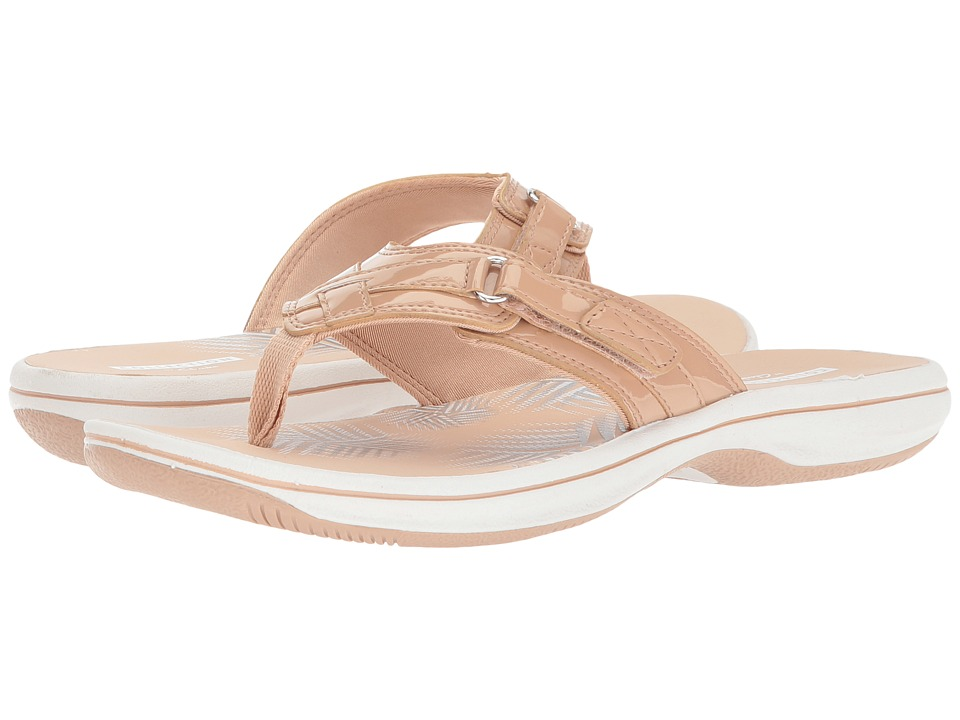 Clarks Breeze Sea (Nude Synthetic Patent) Sandals