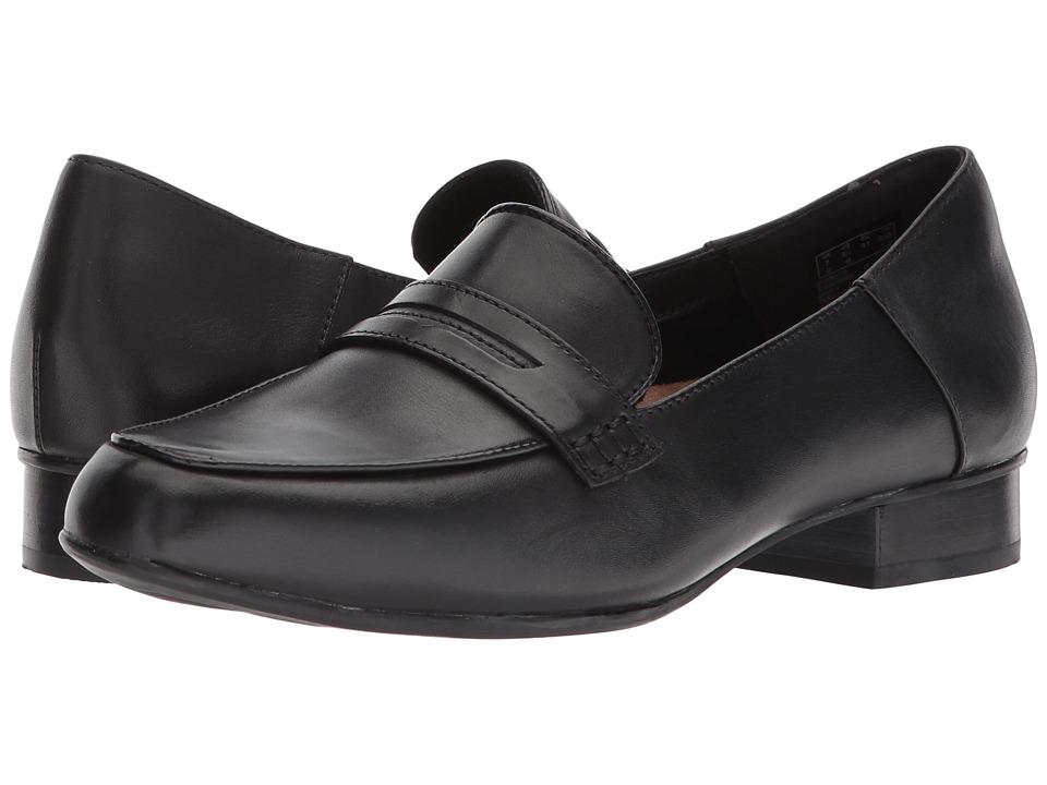 Clarks Keesha Cora (Black Leather) 1-2 inch heel Shoes