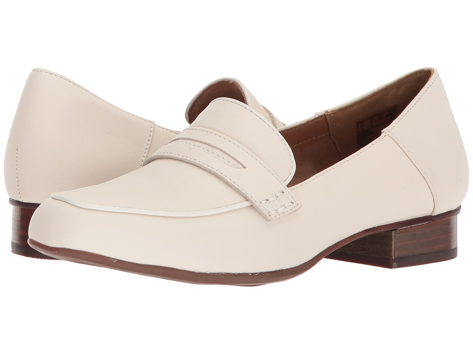Clarks Keesha Cora (White Leather) 1-2 inch heel Shoes