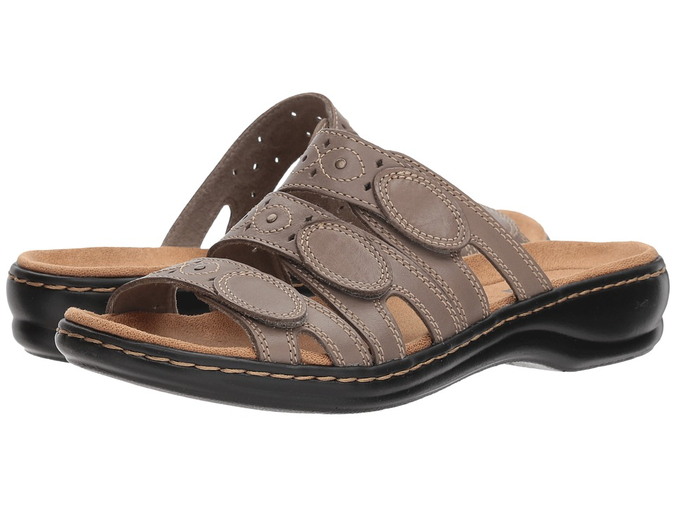 Clarks Leisa Cacti Q (Sage Leather) Sandals