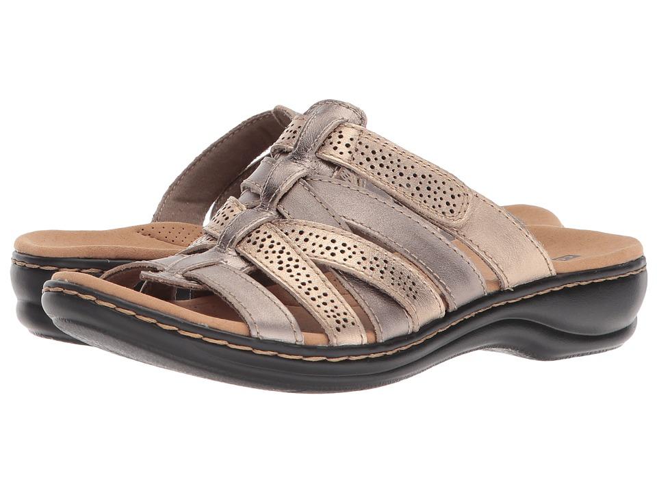 Clarks Leisa Field (Metallic Multi Leather) Women's Shoes