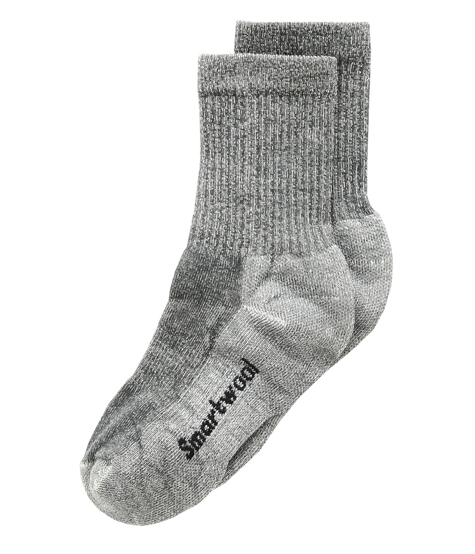 Smartwool Hike Light Crew (Toddler/Little Kid/Big Kid) (Charcoal) Crew Cut Socks Shoes