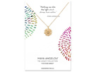 Dogeared Nothing Can Dim The Light... Star/Starburst w/ Crystal Charm Necklace