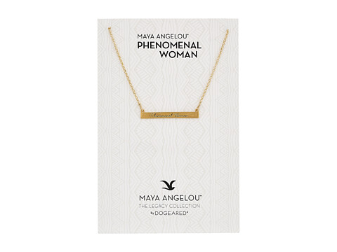 Dogeared Phenomenal ID Bar Necklace - Gold Dipped