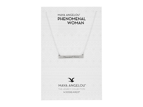 Dogeared Phenomenal ID Bar Necklace - Sterling Silver