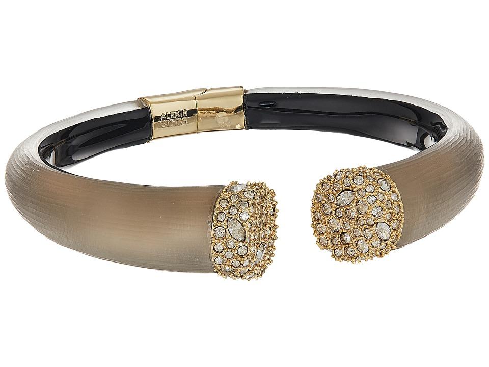 Alexis Bittar - Encrusted Pave Brake Hinge Bracelet (Warm Grey) Bracelet