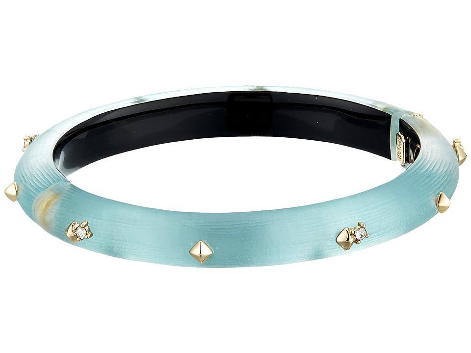 Alexis Bittar - Golden Studded Hinge Bracelet (Blue Grey) Bracelet