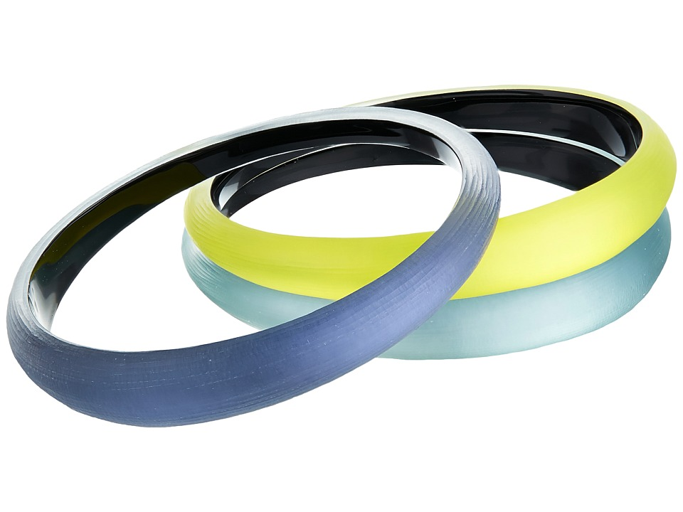 Alexis Bittar - Tapered Bangle 3 Stack Set (Ocean/Blue Grey/Titanium Yellow) Bracelet