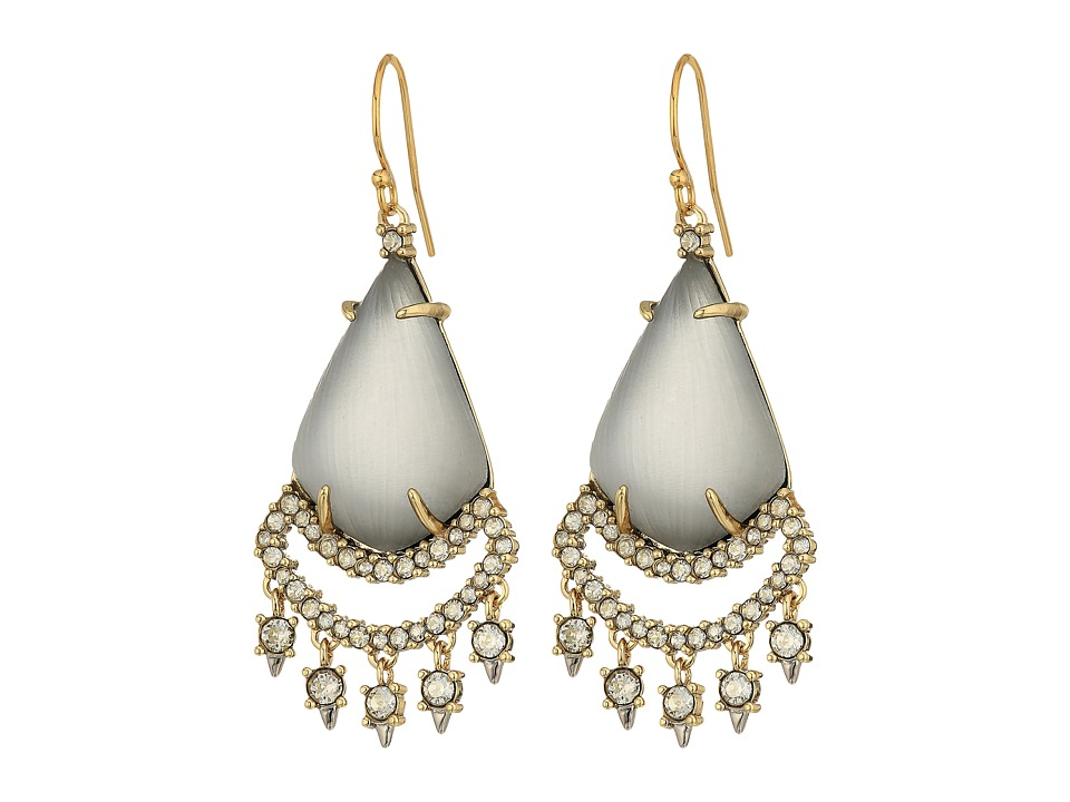 Alexis Bittar - Crystal Lace Chandelier Earrings (Grey) Earring