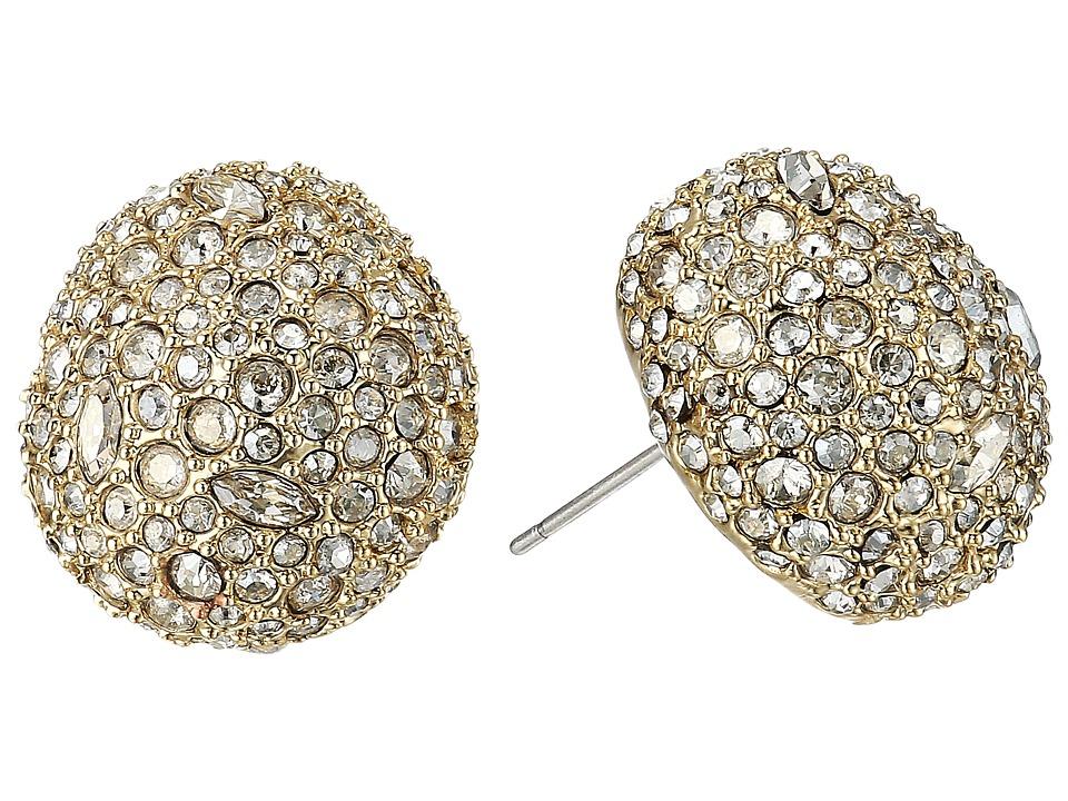 Alexis Bittar - Crystal Encrusted Button Post Earrings (10K Gold) Earring