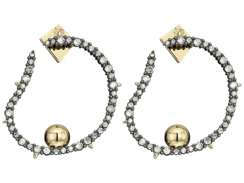 Alexis Bittar - Crystal Encrusted Organic Hoop Post Earrings