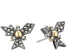Alexis Bittar Crystal Encrusted Snowflake Post Earring
