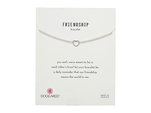 Dogeared Friendship Bracelet, Small Open Heart Chain Bracelet - Sterling Silver