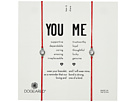 Dogeared You + Me, Crystal On Red Cord Friendship Bracelets, Set of 2