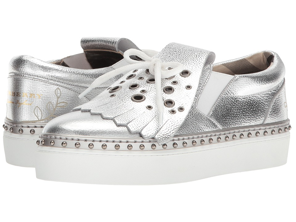 Burberry - Clog Slip-On (Silver) Womens Shoes