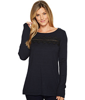 Ivanka Trump - Lace Crew Neck Long Sleeve Sweater
