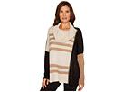 Ivanka Trump Cowl Neck Bat Wing Stripe Sweater