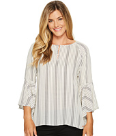 Ivanka Trump - Bell Sleeve Mini Stripe Georgette Blouse