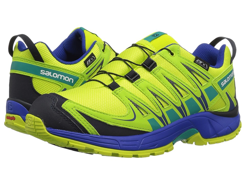 Salomon Kids - Xa Pro 3D Cswp (Little Kid/Big Kid) (Acid Lime/Surf the Web/Tropical Green) Kids Shoes
