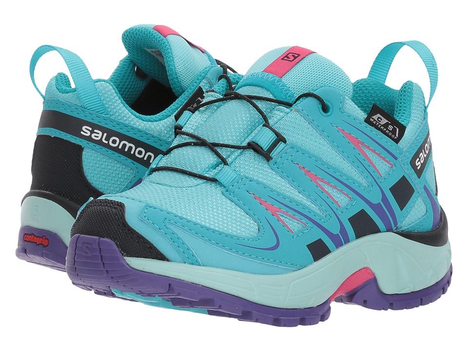 Salomon Kids - Xa Pro 3D Cswp (Toddler/Little Kid) (Blue Curacao/Eggshell Blue/Purple Opulence) Girls Shoes