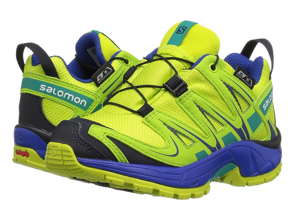 Salomon Kids Xa Pro 3D Cswp (Toddler/Little Kid) (Acid Lime/Surf the Web/Tropical Green) Kids Shoes