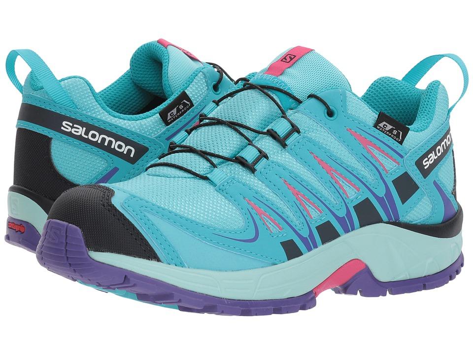 Salomon Kids - Xa Pro 3D Cswp (Little Kid/Big Kid) (Blue Curacao/ Eggshell Blue/Purple Opulence) Girls Shoes