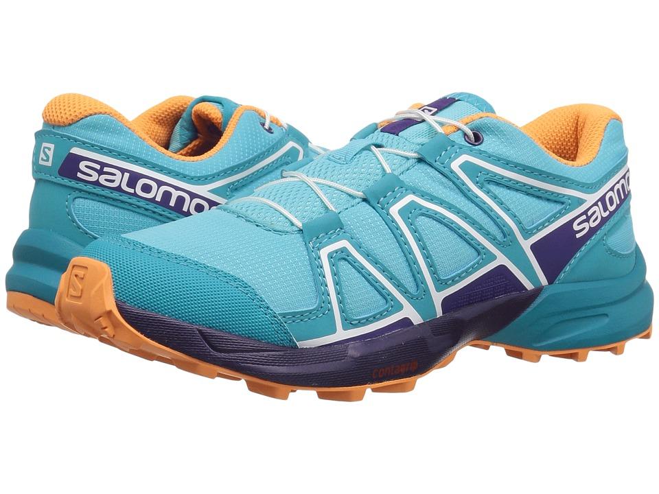 Salomon Kids Speedcross (Little Kid/Big Kid) (Blue Curacao/Acai/Bird of Paradise) Girls Shoes