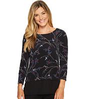 Ivanka Trump - Matt Jersey Long Sleeve Georgette Hem Shirt