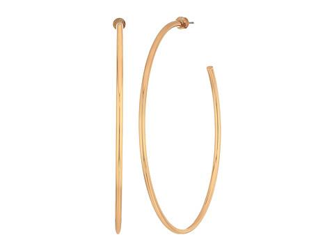 Steve Madden Open Hoop Post Earrings - Rose Gold