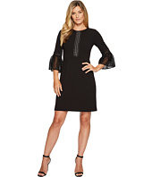 Ivanka Trump - Scuba Crepe Flutter Sleeve Dress