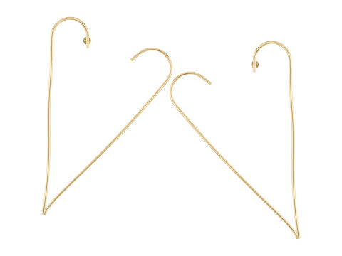 Steve Madden Open Heart Post Earrings - Gold
