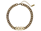 Steve Madden Rock Curb Lobster Claw Necklace