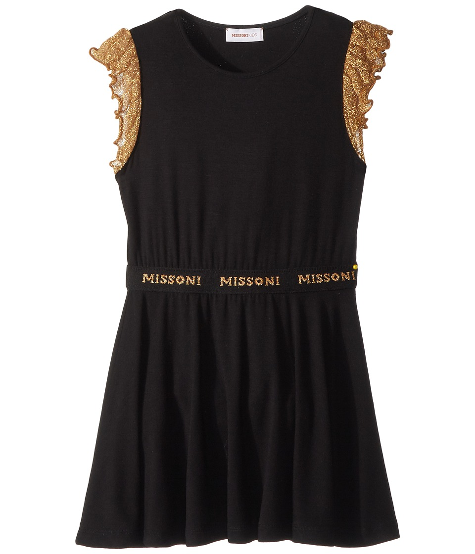 Missoni Kids - Lace Sleeve Jersey Dress (Toddler/Little Kids) (Black) Girls Dress