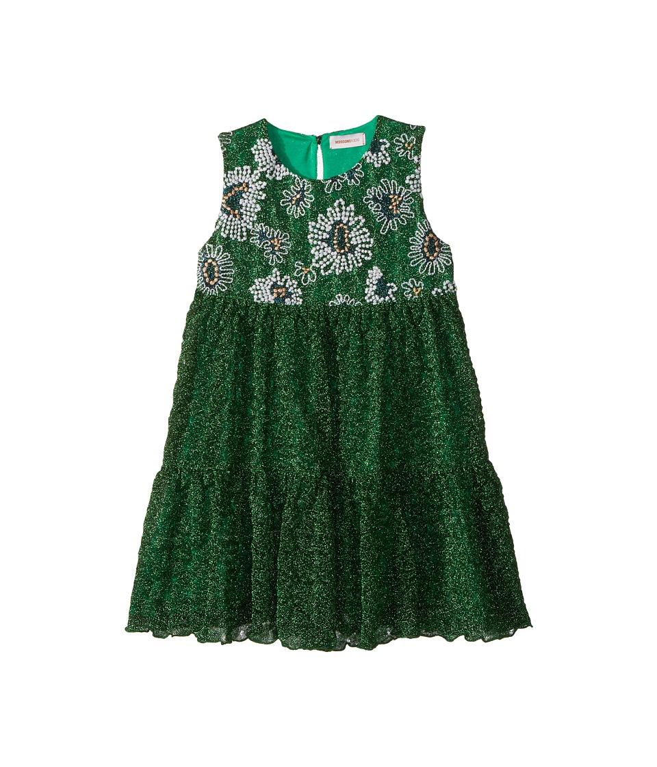 Missoni Kids - Lace Lame Unito Dress (Toddler/Little Kids) (Green) Girls Dress