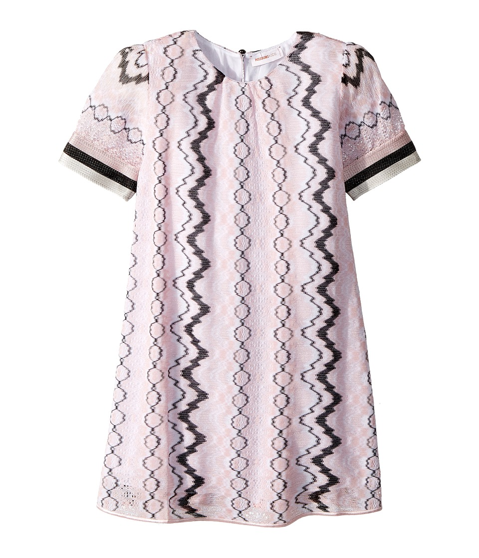 Missoni Kids - Rigato Lace Dress (Toddler/Little Kids) (Pink) Girls Dress