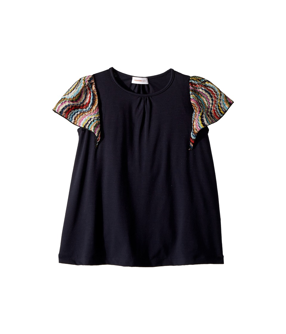 Missoni Kids - Jersey Dress w/ Lace Trim (Toddler/Little Kids) (Blue) Girls Dress