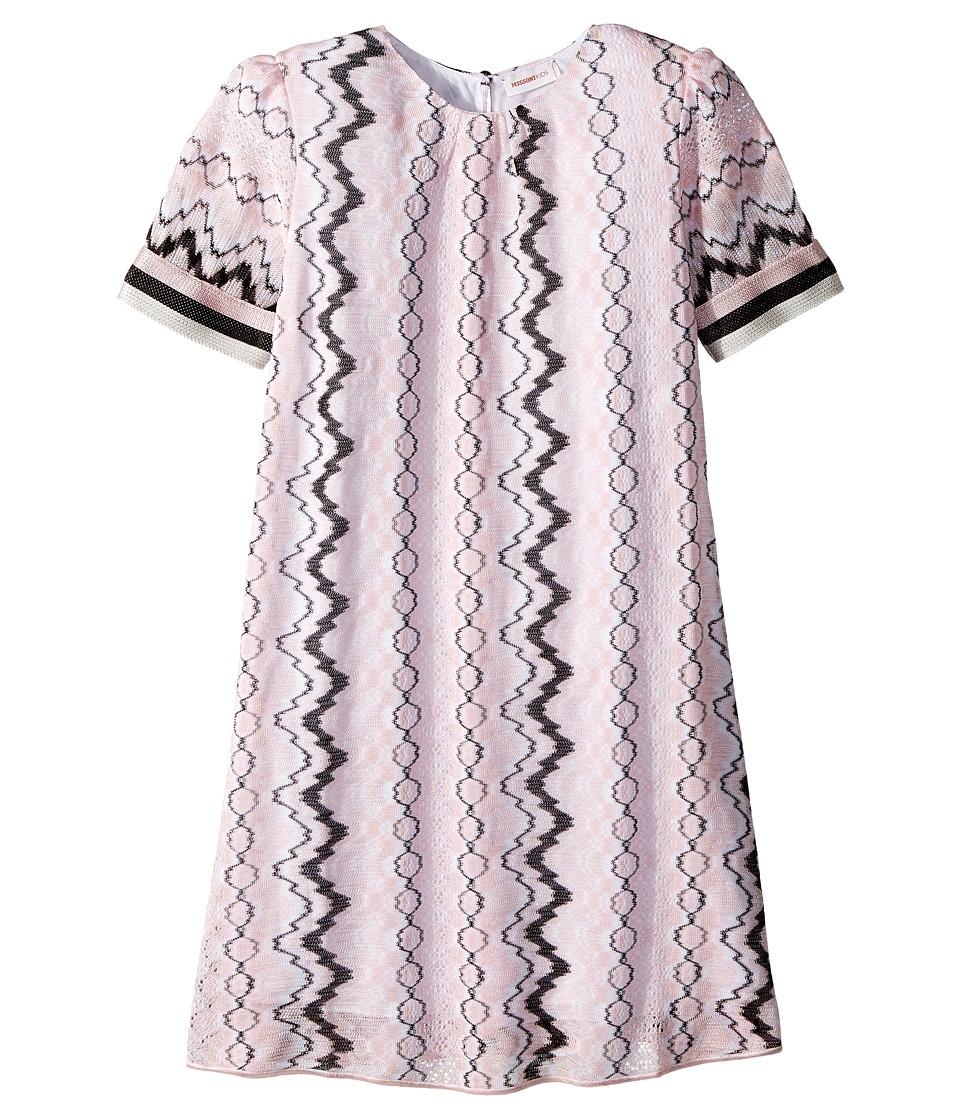 Missoni Kids - Rigato Lace Dress (Big Kids) (Pink) Girls Dress