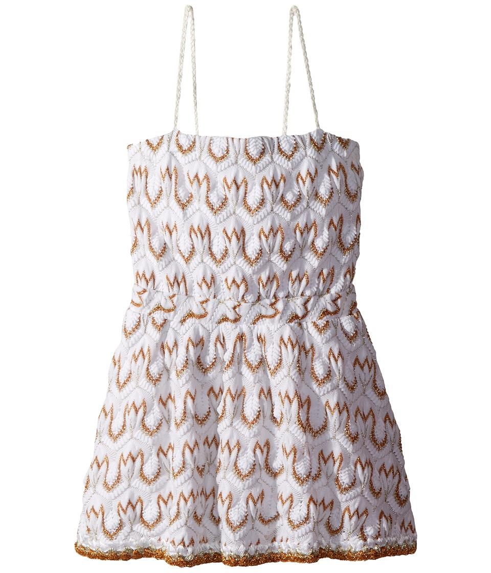 Missoni Kids - Lace Lame Dress (Toddler/Little Kids) (White/Gold) Girls Dress