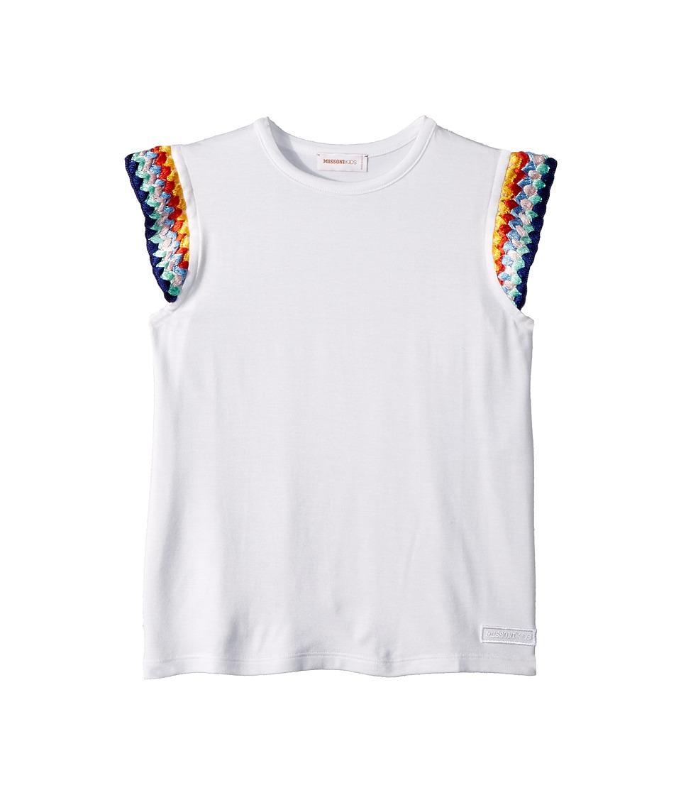 Missoni Kids - Jersey T-Shirt (Toddler/Little Kids) (White) Girls T Shirt