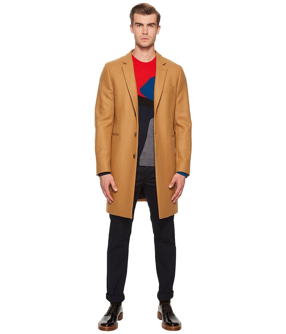 Paul Smith - Cashmere Blend Coat (Camel) Mens Coat