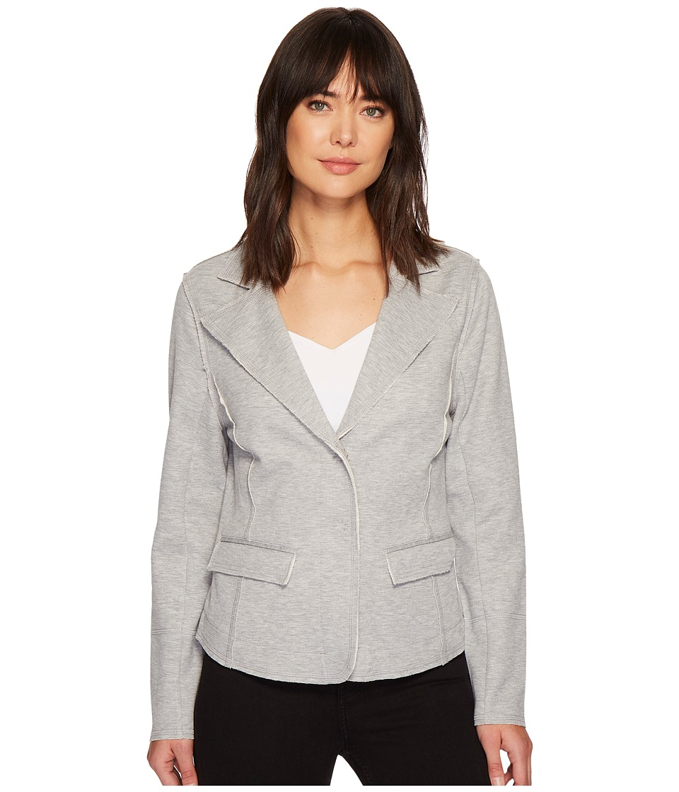 Nic+Zoe Modern Knit Blazer (Heather Grey) Women's Jacket