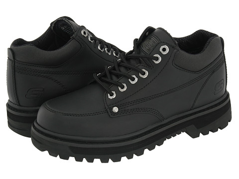 SKECHERS Mariner Black Oily Leather