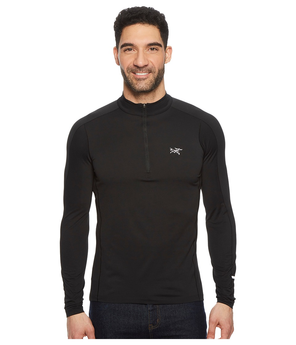 Arcteryx - Cormac Zip Neck Long Sleeve (Black) Mens Clothing