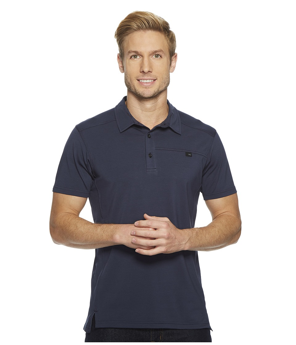 Arcteryx - Captive Polo S/S (Nighthawk) Mens Short Sleeve Pullover