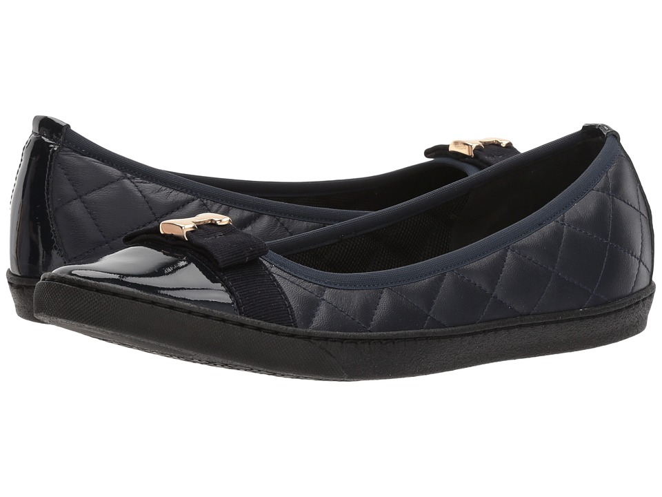 Sesto Meucci - Florel (Navy Nappa/Navy Patent/Navy Grosgrain) Womens Slip on  Shoes