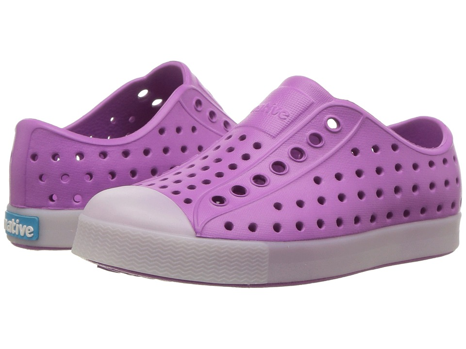 Native Kids Shoes - Jefferson Glow (Toddler/Little Kid) (Peace Purple/Glow in the Dark) Girls Shoes