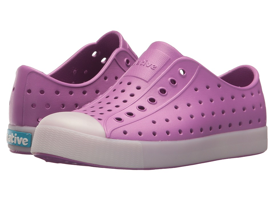 Native Kids Shoes - Jefferson Glow (Little Kid) (Peace Purple/Glow in the Dark) Girls Shoes